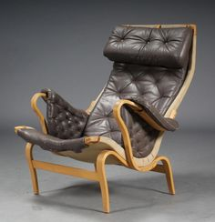 Bruno Mathsson Pernilla 69 leather armchair for Dux