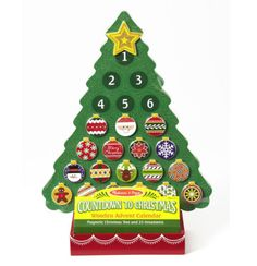 Melissa & Doug Countdown to Christmas Wooden Advent Calendar - Add some kid-friendly holiday cheer and a charming yuletide ritual to your home with this wooden mag Toy Advent Calendar, Christmas Tree Advent Calendar, Advent Calendars For Kids, Wooden Christmas Trees, Kids Calendar, Kids Christmas, Christmas Crafts, Wooden Tree, Calendar Ideas