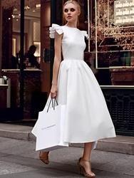 #EricDress - #EricDress Ericdress Cap Sleeve Plain Ankle-Length A Line Dress - AdoreWe.com