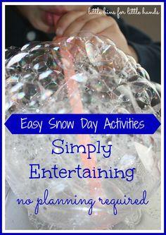 Snow Day Winter Activities To Keep Kids Busy {littlebinsforlittlehands}