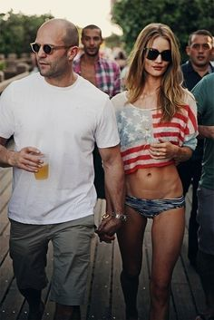 Perfect couple. Jason Statham and Rosie HW