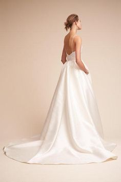 Long Wedding Dress, Satin Wedding Dress, Spaghetti Straps Bridal Dress, Sleeveless Wedding Dress, Backless Wedding Dress, V-Neck Wedding Dress, Beach Wedding Dress, LB0503 The Wedding Dresses?are?fully lined, 8?bones in the bodice, chest pad in the bust, lace up back or zipper back are all available. This dress could be custom made, there are no extra cost to do custom size and color. Description? 1, Material: satin, elastic silk like?satin, pongee. 2, Color: there are many?colors are…