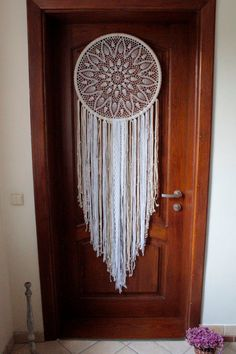 Giant dreamcatcher Angel Wings bohemian by TheWovenDreamFactory