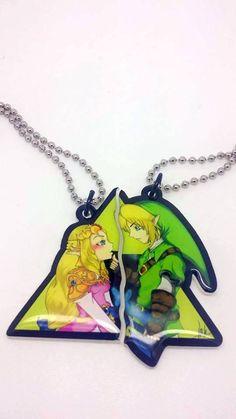 Zelda et Link Couples colliers prêt à expédier par JuliesNovelties