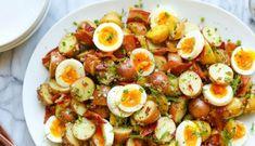 Meleg burgonyasaláta Roast Pork Dinner, Pork Roast, Vinaigrette, Cobb Salad, Salad Recipes, Potato Salad, Salads, Potatoes, Ethnic Recipes