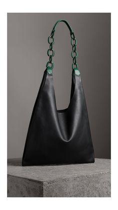 fbbce2c9d767d Medium Two-tone Leather Shopper in Black - Women