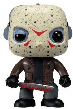 Jason Voorhees as never seen before! Jason Voorhees in stylized urban vinyl form! This Jason Voorhees Movie Pop! The stylized vinyl figure has a rotating head and comes in a displayable window box. Figurines D'action, Figurines Funko Pop, Funko Pop Toys, Funko Pop Vinyl, Pop Vinyl Figures, Funko Pop Marvel, Scary Movies, Horror Movies, Universal Monsters