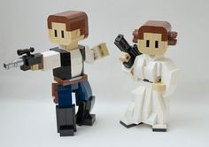 Super Punch: Lego Han and Leia