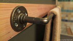 Tutorial: DIY custom-length towel bar using plumbing pipes