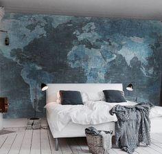 WAUW - de wereldkaart als behang is een super-geweldig-fantastisch idee!!!! ++