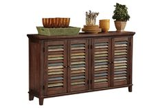 "I want to use this as toy storage in my living room! (Ashley Furniture Mestler buffet 60""W x 14""D x 34""H)"