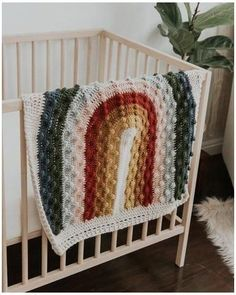 Rivie Rainbow Bonnet #muted #rainbow #crochet #blanket Rivie Rainbow Bonnet – Mama Made Minis Crochet Crafts, Yarn Crafts, Crochet Projects, Crochet Home Decor, Wood Crafts, Diy Wood, Manta Crochet, Knit Crochet, Crochet Blanket Patterns