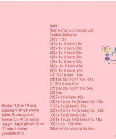 FREE TARİF TOKALI KIZ Crochet Dolls Free Patterns, Crochet Doll Pattern, Baby Knitting Patterns, Doll Patterns, Crochet For Kids, Crochet Baby, Free Crochet, Booties Crochet, Doll Patterns Free