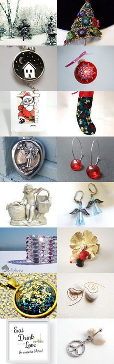 MERRY CHRISTMAS by sylvie on Etsy--Pinned with TreasuryPin.com