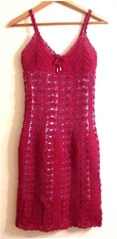 Red Cotton Dress By Jelena Mitic - Free Crochet Pattern - (ravelry)