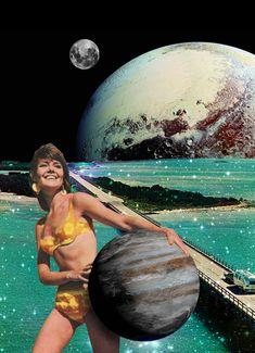 Annette von Stahl vintage collage Collages, Collage Art, Funny Yoga Pictures, Illustrations, Illustration Art, Yoga Meme, Eugenia Loli, Cosmos, Acid Art