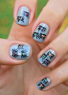 dressedupnails:  I have some Halloween nails for y'all today…...