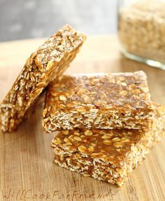 Banana Nut Protein Bars    15 pitted dates  1 lg ripe banana  1c nut butter  1 scoop protein powder  1/4c shelled hemp seeds  1/4c chia seeds  2 1/4 c rolled oats  Opt:   1t cinnamon, or  1-2 t cocoa