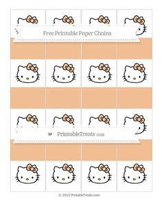 Free Pastel Orange  Hello Kitty Paper Chains
