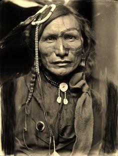 Wasicu Maza (aka Iron White Man), the husband of Tokeya Win (aka Leading Woman, aka Moves First) - Oglala - 1900 ༺ ♠ ༻*ŦƶȠ*༺ ♠ ༻