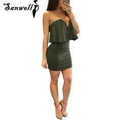 Sexy Mini Vintage Dress Night Clubwear For Women