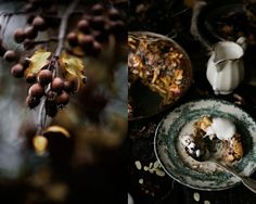Pratos e Travessas: Pudim de maça, uvas e amêndoa, sem glúten # Gluten free apple, grapes and almond pudding | Food, photography and stories