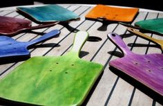 Upcycled skateboard cheeseboards from the brilliantly innovative Chubba Art and Design
