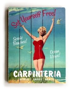 Vintage California Beach Sign