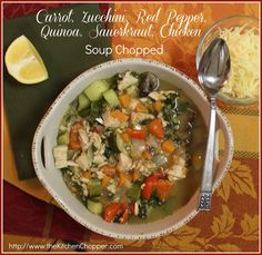 Carrot, Zucchini, Red Pepper, Quinoa, Sauerkraut, Chicken Soup Chopped / The Kitchen Chopper