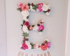 The Adrielle Custom Floral Letter by FreshPartyCollective on Etsy