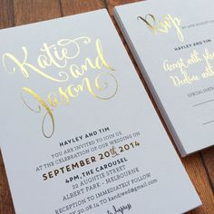 My Sweet Love Foil Invite