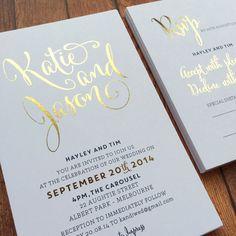 My Sweet Love Foil Invite