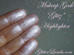 Makeup Geek Glitz Hightlighter swatches by GlitterLambs.com Makeup Reviews