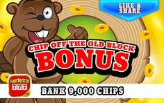 ☆☆☆ Chip Off The Old Block Bonus ☆☆☆Love Chips? >  <  Collect A Bonus Right Now! #freeslots #casino