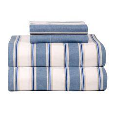 Celeste Home Ultra Soft Blue Stripe Flannel Sheet Set - International Shipping Available #stripe #flannel #sheet #blue #soft #home #ultra #celeste