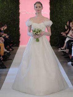 vestido de noiva oscar de la renta em organza com mangas em chiffon colecao 2015 9 #casarcomgosto
