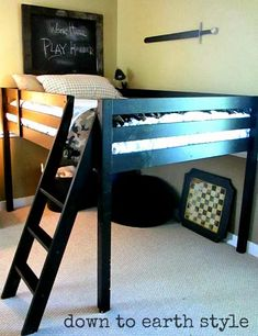 Cute Loft Bed!!! Utilize more space, great idea for a teenage girl!