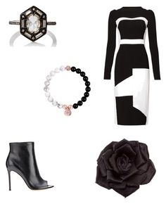 """""""Date night #3"""" by jaydahrich ❤ liked on Polyvore featuring Antonio Berardi, Gianvito Rossi, Johnny Loves Rosie and Cathy Waterman"""