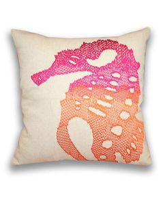 Thro Ombra Sea Horse Decorative Pillow