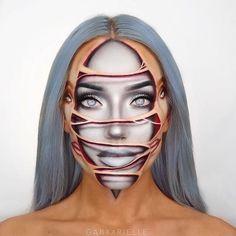 25 Pretty Makeup Looks to Try in 2019 Halloween Makeup Artist, Cute Halloween Makeup, Halloween Ideas, Glam Makeup, Makeup Inspo, Makeup Inspiration, Sfx Makeup, Makeup Ideas, Pretty Makeup Looks