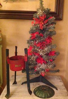 Vintage Christmas Tree and Vintage Christmas Tree by PorchHound, $11.00