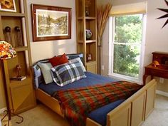 position and secure bookcases around a murphy bed