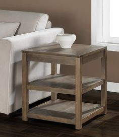 Tacoma Weathered End Table | Overstock.com Shopping - The Best Deals on Coffee, Sofa & End Tables