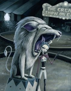 Leona the lion tamer by Megan Majewski