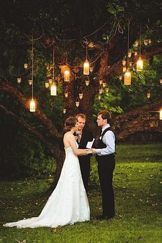 The candles hanging from the trees while you recite your vows are so romantic