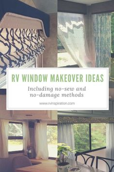 If you're not loving your RV's factory window decor, try one of these ideas for a new look in your camper, travel trailer, or motorhome!