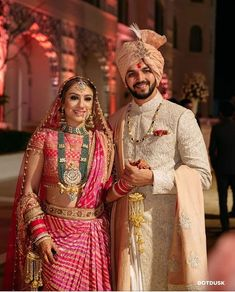 Be the kind of queen who wears her crown in her hair as well as her soul. One look at this majestic enough to shower you with… Couple Wedding Dress, Groom Wedding Dress, Indian Wedding Couple, Wedding Attire, Wedding Photoshoot, Wedding Couples, Sherwani For Men Wedding, Wedding Dresses Men Indian, Indian Bridal Fashion