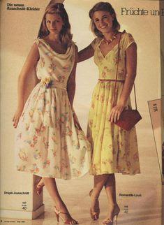 1980 Flower Romantic Dresses