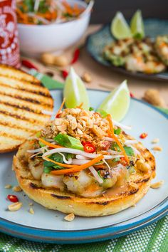 Grilled Pad Thai Shrimp Burgers -Succulent & Juicy... They'll probably exceed your expectations!