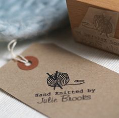 Personalised 'Hand Knitted By' Stamp from notonthehighstreet.com